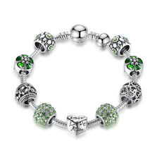 Load image into Gallery viewer, Antique Silver Charm Bracelet & Bangle - aidaroos.com