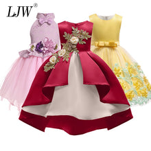 Load image into Gallery viewer, Baby Girl embroidery Silk Princess Dress - aidaroos.com