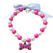 Load image into Gallery viewer, Bow Pearl Collar Pet Accessories - aidaroos.com