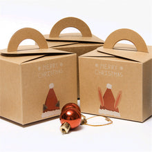 Load image into Gallery viewer, Kraft Paper Gift Box Christmas Santa Claus Gift Packing Handheld - aidaroos.com