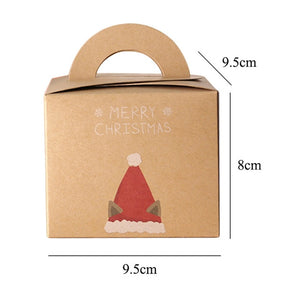 Kraft Paper Gift Box Christmas Santa Claus Gift Packing Handheld - aidaroos.com