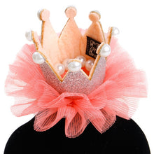 Load image into Gallery viewer, Cute Lace Princess Crown Dog Cat Pet Hair Clip - aidaroos.com
