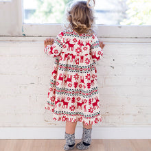 Load image into Gallery viewer, 2-7 Years Girls Long Sleeve Dress - aidaroos.com
