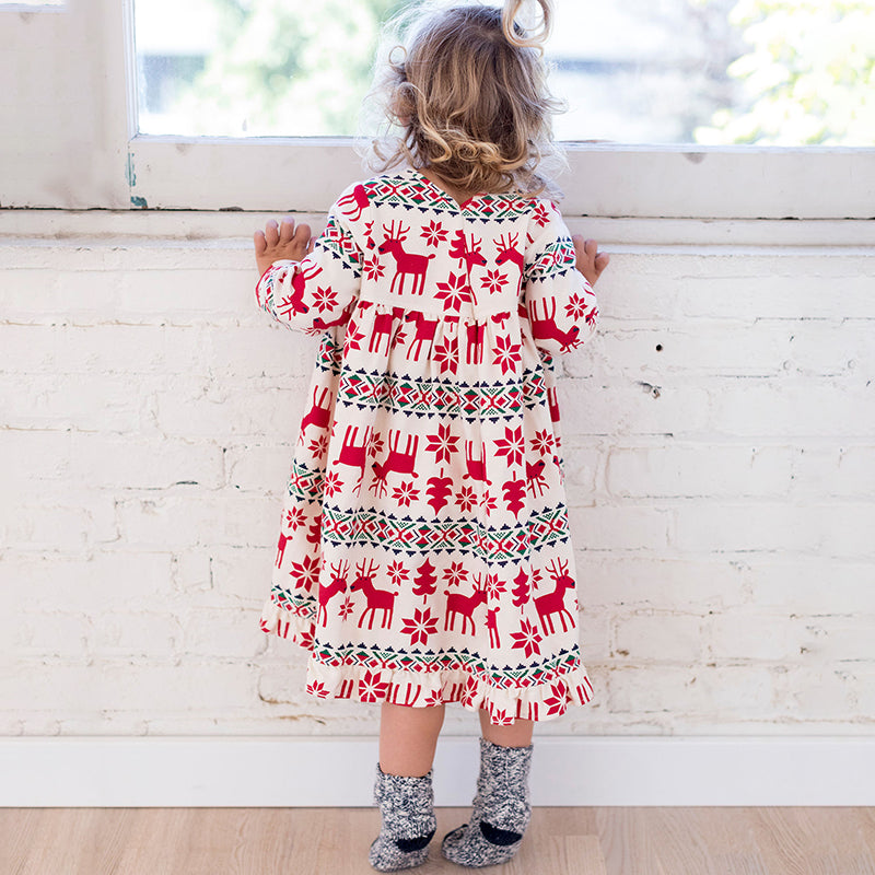 2-7 Years Girls Long Sleeve Dress - aidaroos.com