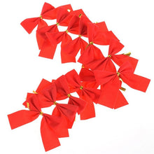 Load image into Gallery viewer, 12 Pcs / Set Lovely Bow Christmas Tree Decoration - aidaroos.com