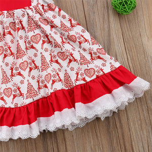 0-5T Christmas Toddler Kids Baby Girls Floral Dress - aidaroos.com