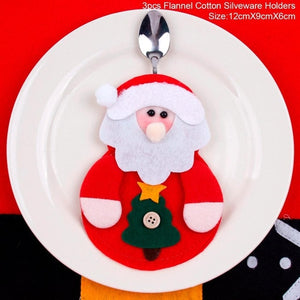 Christmas Silverware Holder Mini Santa Claus - aidaroos.com