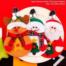 Load image into Gallery viewer, Christmas Silverware Holder Mini Santa Claus - aidaroos.com