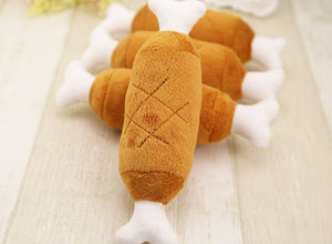 1pc Hot Velvet Pet Dog Cat Chicken Legs Plush Toys - aidaroos.com