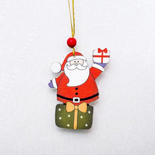 Load image into Gallery viewer, Santa Claus Deer New Year Natural Wood Christmas Tree Ornaments Pendant Hanging Gifts - aidaroos.com