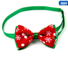 Load image into Gallery viewer, Christmas Holiday Pet Cat Dog Collar Bow Tie Adjustable Neck Strap - aidaroos.com