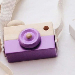 Cute Nordic Hanging Wooden Camera for Kids - aidaroos.com