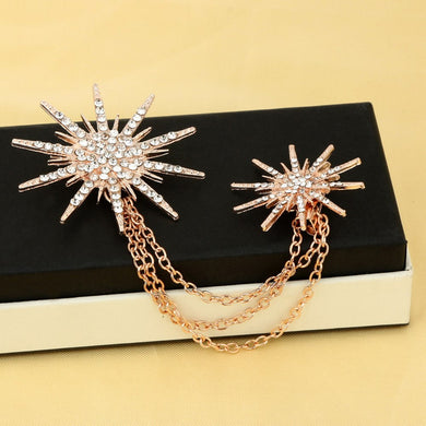 Multi Color Crystal Artificial Spark Rhinestone Retro Brooch For Clothing - aidaroos.com