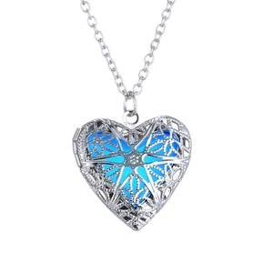 Punk Silver Color Luminous Love Hearts Necklaces & Pendants for Women - aidaroos.com
