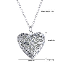 Load image into Gallery viewer, Punk Silver Color Luminous Love Hearts Necklaces & Pendants for Women - aidaroos.com
