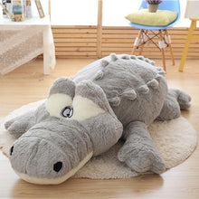Load image into Gallery viewer, Crocodile Plush Cushion - aidaroos.com