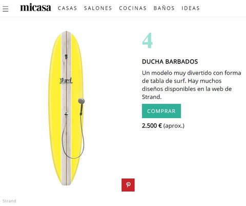 cStrand Boards Barbados Surfboard Shower listed on Micasa.
