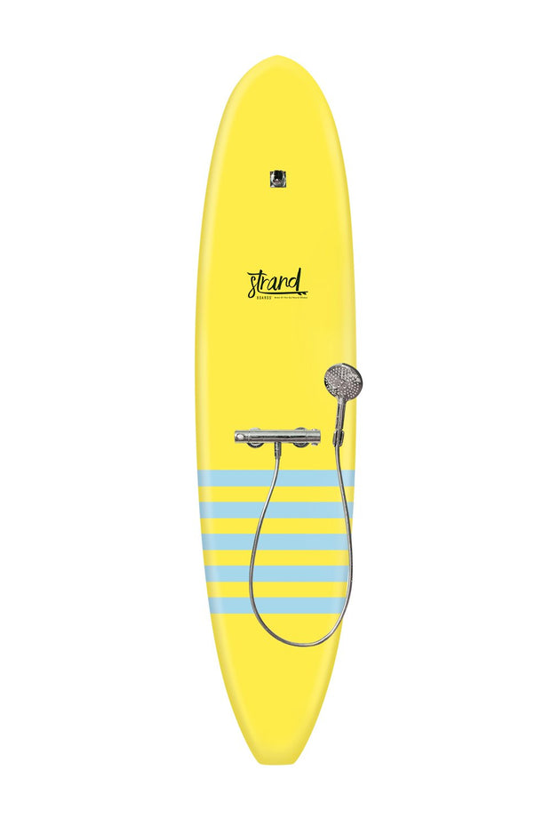 Strand Boards® | Strand Series | La Jolla Surfboard Shower | Beach Component | Yellow Blue