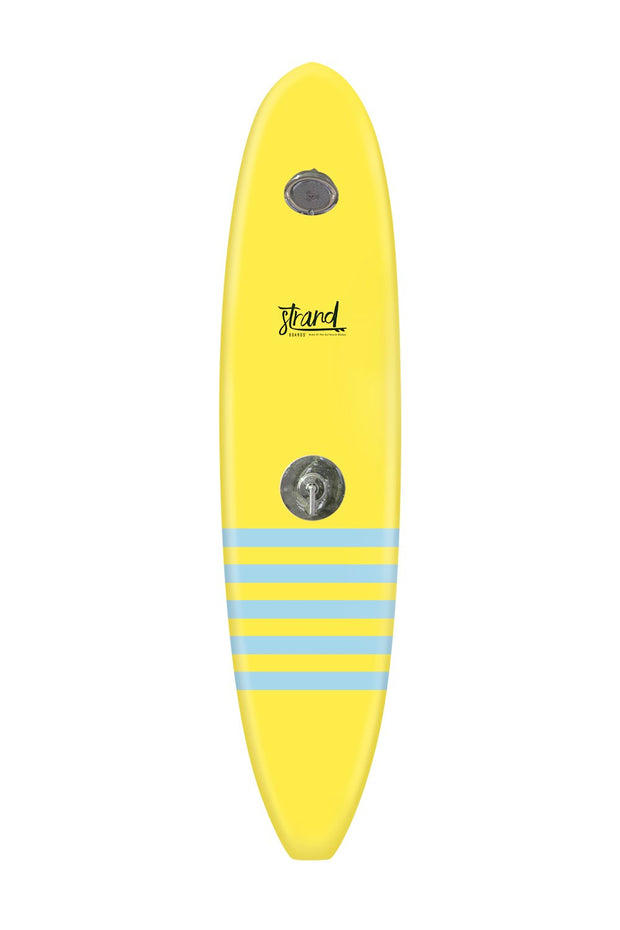 Strand Boards® | Strand Series | La Jolla Surfboard Shower | Classic Component | Yellow Blue