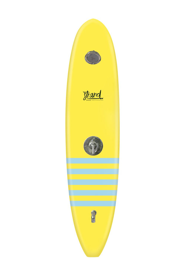 Strand Boards® | Strand Series | La Jolla Surfboard Shower | Elite Component | Yellow Blue