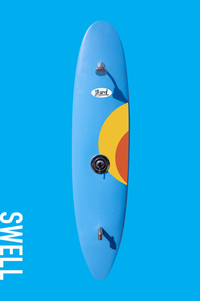 Strand Boards® Swell Series -Sunburst Blue Outdoor Surfboard Shower