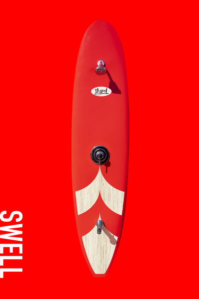Strand Boards® Swell Series - Woodsy Red Outdoor Surfboard Shower