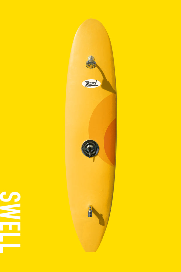 Strand Boards® Swell Series - Sunburst Yellow Outdoor Surfboard Shower