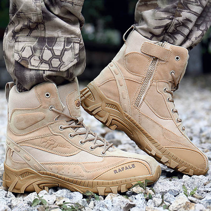 90fb3f5d82a men winter boots 2018 Wear-resisting Desert Boots Non-slip Army Boots Men  Waterproof Outdoor military shoes Ankle Combat Boot