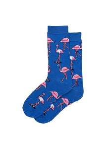 FLOCKING PINK FLAMINGO SOCKS
