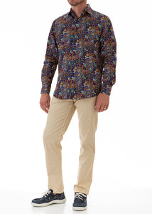 PAISLEY INK SHIRT