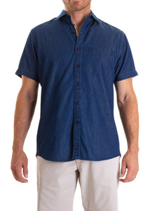DENIM SHIRT SHORT SLEEVE