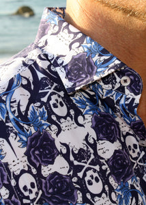 ROSE TATTOO SHIRT - Blue