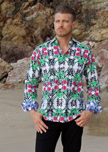 ROSE TATTOO SHIRT - Lime