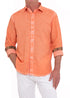MANGO CORAL WASHED LINEN SHIRT
