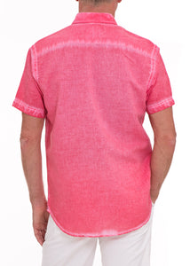 CORAL WASHED LINEN S/S