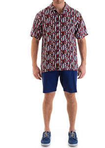 TENCEL SANGRIA SHORT SLEEVE SHIRT