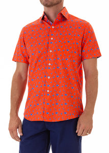 Sunset-flamingo-print-short-sleeve-shirt