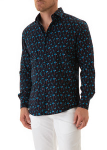 flamingo-nightlife-print-mens-cotton-long-sleeve-shirt-aqua