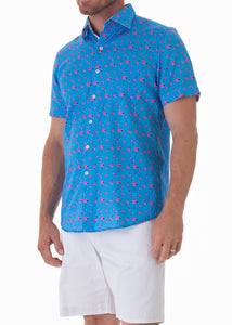 flamingo-tide-pink-mens-cotton-short-sleeve-shirt