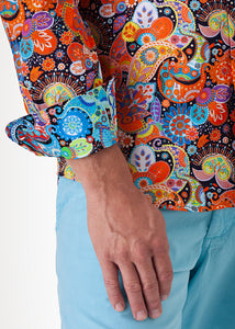 PAISLEY BY DESIGN SHIRT ORANGE