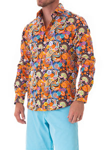 paisley-by-design-orange-mens-cotton-shirt