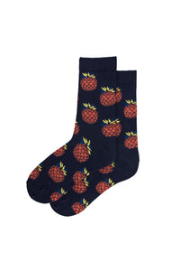pineapple -print-navy-socks