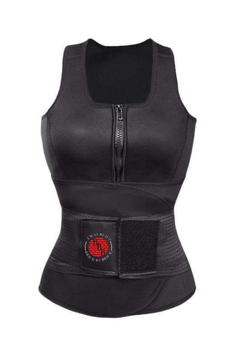 Sweat Vest with built in waist trainer.