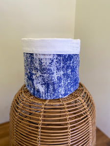 Pot Cover Blue and White Speckled