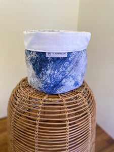 Pot Cover Blue and White Splash
