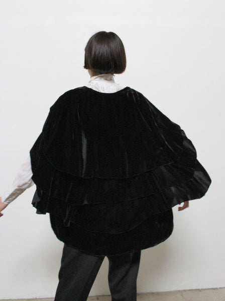 1920s Silk Velvet Tiered Jacket