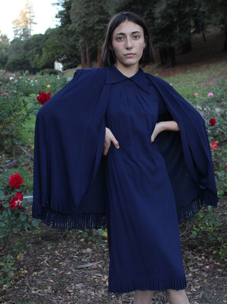 1940s Loop Dress & Cape