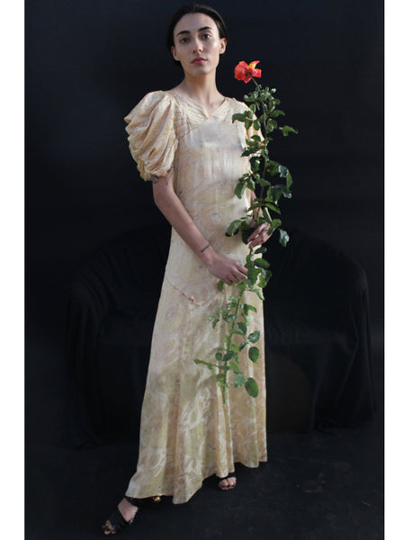 1930s Floral Gown