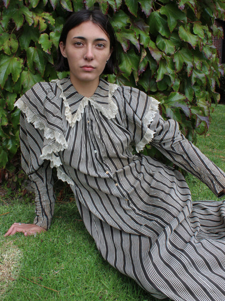 Edwardian Striped Dress