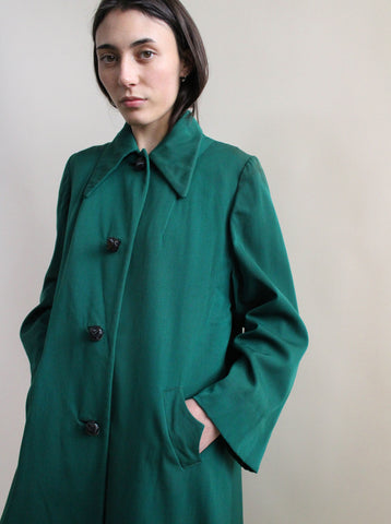 1940s Forest Green Coat